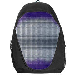 Purple Square Frame With Mosaic Pattern Backpack Bag
