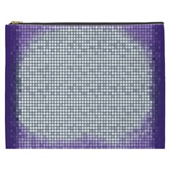 Purple Square Frame With Mosaic Pattern Cosmetic Bag (XXXL)