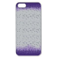 Purple Square Frame With Mosaic Pattern Apple Seamless Iphone 5 Case (clear)