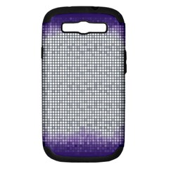 Purple Square Frame With Mosaic Pattern Samsung Galaxy S III Hardshell Case (PC+Silicone)