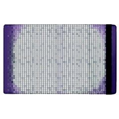 Purple Square Frame With Mosaic Pattern Apple Ipad 2 Flip Case