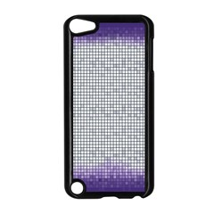 Purple Square Frame With Mosaic Pattern Apple Ipod Touch 5 Case (black)