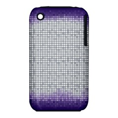 Purple Square Frame With Mosaic Pattern iPhone 3S/3GS