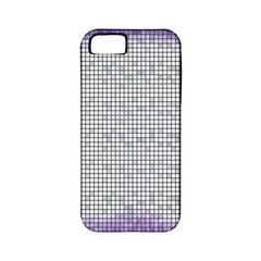 Purple Square Frame With Mosaic Pattern Apple iPhone 5 Classic Hardshell Case (PC+Silicone)