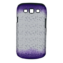 Purple Square Frame With Mosaic Pattern Samsung Galaxy S III Classic Hardshell Case (PC+Silicone)