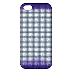 Purple Square Frame With Mosaic Pattern Apple Iphone 5 Premium Hardshell Case