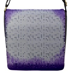 Purple Square Frame With Mosaic Pattern Flap Messenger Bag (s)