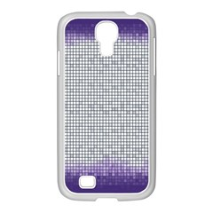 Purple Square Frame With Mosaic Pattern Samsung Galaxy S4 I9500/ I9505 Case (white)