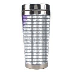Purple Square Frame With Mosaic Pattern Stainless Steel Travel Tumblers
