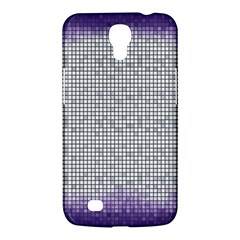 Purple Square Frame With Mosaic Pattern Samsung Galaxy Mega 6 3  I9200 Hardshell Case