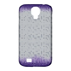 Purple Square Frame With Mosaic Pattern Samsung Galaxy S4 Classic Hardshell Case (PC+Silicone)
