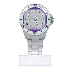 Purple Square Frame With Mosaic Pattern Plastic Nurses Watch