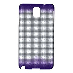 Purple Square Frame With Mosaic Pattern Samsung Galaxy Note 3 N9005 Hardshell Case