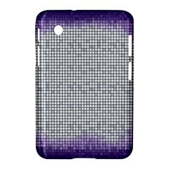 Purple Square Frame With Mosaic Pattern Samsung Galaxy Tab 2 (7 ) P3100 Hardshell Case