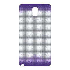 Purple Square Frame With Mosaic Pattern Samsung Galaxy Note 3 N9005 Hardshell Back Case