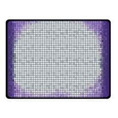 Purple Square Frame With Mosaic Pattern Double Sided Fleece Blanket (Small)