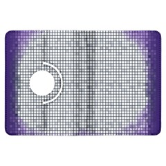 Purple Square Frame With Mosaic Pattern Kindle Fire Hdx Flip 360 Case