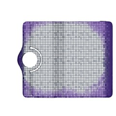 Purple Square Frame With Mosaic Pattern Kindle Fire Hdx 8 9  Flip 360 Case