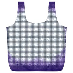 Purple Square Frame With Mosaic Pattern Full Print Recycle Bags (l)