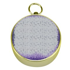 Purple Square Frame With Mosaic Pattern Gold Compasses