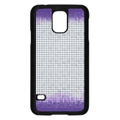 Purple Square Frame With Mosaic Pattern Samsung Galaxy S5 Case (black)
