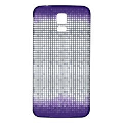 Purple Square Frame With Mosaic Pattern Samsung Galaxy S5 Back Case (white)