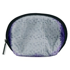 Purple Square Frame With Mosaic Pattern Accessory Pouches (medium)