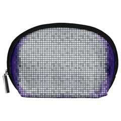 Purple Square Frame With Mosaic Pattern Accessory Pouches (large)