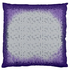 Purple Square Frame With Mosaic Pattern Standard Flano Cushion Case (Two Sides)
