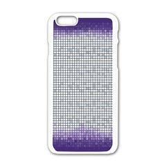 Purple Square Frame With Mosaic Pattern Apple iPhone 6/6S White Enamel Case