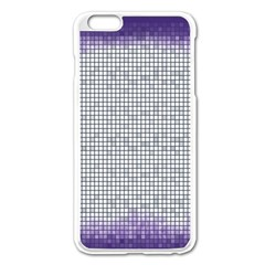 Purple Square Frame With Mosaic Pattern Apple Iphone 6 Plus/6s Plus Enamel White Case