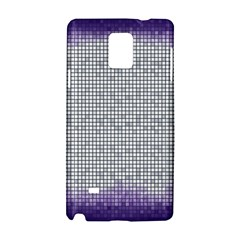 Purple Square Frame With Mosaic Pattern Samsung Galaxy Note 4 Hardshell Case