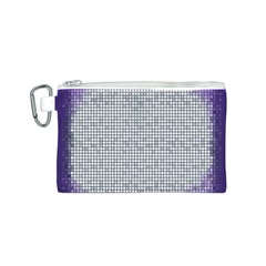 Purple Square Frame With Mosaic Pattern Canvas Cosmetic Bag (S)