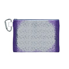 Purple Square Frame With Mosaic Pattern Canvas Cosmetic Bag (M)