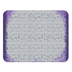 Purple Square Frame With Mosaic Pattern Double Sided Flano Blanket (Large)