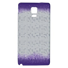 Purple Square Frame With Mosaic Pattern Galaxy Note 4 Back Case