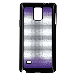 Purple Square Frame With Mosaic Pattern Samsung Galaxy Note 4 Case (black)