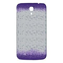 Purple Square Frame With Mosaic Pattern Samsung Galaxy Mega I9200 Hardshell Back Case