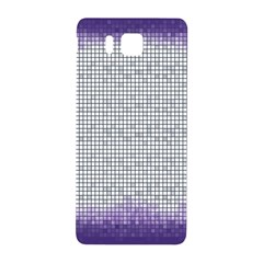 Purple Square Frame With Mosaic Pattern Samsung Galaxy Alpha Hardshell Back Case