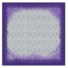 Purple Square Frame With Mosaic Pattern Large Satin Scarf (square)