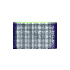 Purple Square Frame With Mosaic Pattern Cosmetic Bag (xs)