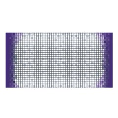 Purple Square Frame With Mosaic Pattern Satin Shawl