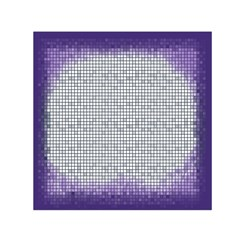 Purple Square Frame With Mosaic Pattern Small Satin Scarf (Square)