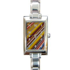 Colourful Lines Rectangle Italian Charm Watch