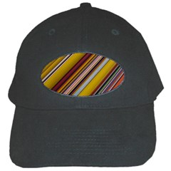Colourful Lines Black Cap