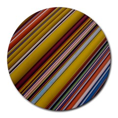 Colourful Lines Round Mousepads