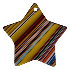 Colourful Lines Ornament (Star)