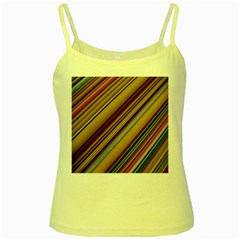 Colourful Lines Yellow Spaghetti Tank