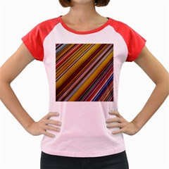 Colourful Lines Women s Cap Sleeve T-Shirt