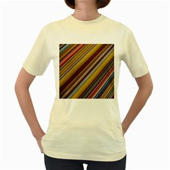 Colourful Lines Women s Yellow T Shirt